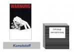 """Warnkennzeichnung Kühlmittel """"Blanko"""" auf Kunststoffplatte"""