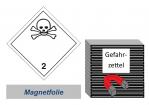 Gefahrzettel 100x100 magnetisch - Gefahrgutklasse 2.3