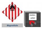 Gefahrzettel 100x100 magnetisch - Gefahrgutklasse 4.1