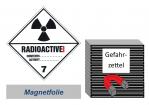 Gefahrzettel 100x100 magnetisch - Gefahrgutklasse 7A