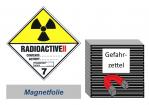 Gefahrzettel 100x100 magnetisch - Gefahrgutklasse 7B