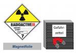 Gefahrzettel 100x100 magnetisch - Gefahrgutklasse 7C