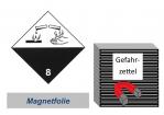 Gefahrzettel 100x100 magnetisch - Gefahrgutklasse 8