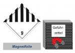 Gefahrzettel 100x100 magnetisch - Gefahrgutklasse 9
