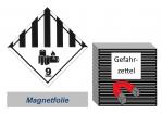 Gefahrzettel 100x100 magnetisch - Gefahrgutklasse 9A Lithium