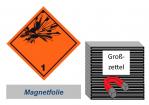 Grosszettel 300x300 magnetisch - Gefahrgutklasse 1