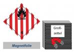 Grosszettel 250x250 magnetisch - Gefahrgutklasse 4.1