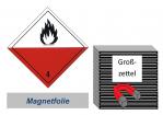 Grosszettel 300x300 magnetisch - Gefahrgutklasse 4.2