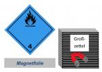 Grosszettel 300x300 magnetisch - Gefahrgutklasse 4.3