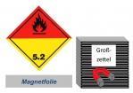 Grosszettel 250x250 magnetisch - Gefahrgutklasse 5.2