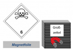 Grosszettel 250x250 magnetisch - Gefahrgutklasse 6.1