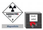 Grosszettel 300x300 magnetisch - Gefahrgutklasse 7A