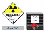 Grosszettel 250x250 magnetisch - Gefahrgutklasse 7B