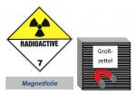 Grosszettel 300x300 magnetisch - Gefahrgutklasse 7(D)