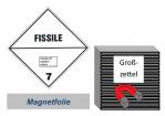 Grosszettel 300x300 magnetisch - Gefahrgutklasse 7E spaltbar