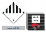 Grosszettel 300x300 magnetisch - Gefahrgutklasse 9