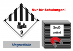 Gefahrzettel 250x250 magnetisch - Gefahrgutklasse 9A Lithium