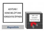 """Magnet-Folienschild CV36 """"keine Belüftung"""" 300x300"""