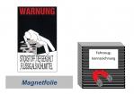 """Warnkennzeichnung Kühlmittel """"Stickstoff"""" auf Magnetfolie"""