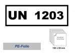 UN-Nummernaufkleber : 1203 / 150x50