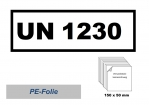 UN-Nummernaufkleber : 1230 / 150x50