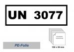 UN-Nummernaufkleber : 3077 / 150x50
