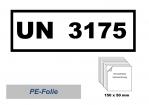 UN-Nummernaufkleber : 3175 / 150x50