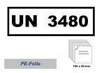 UN-Nummernaufkleber : 3480 / 150x50