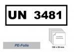 UN-Nummernaufkleber : 3481 / 150x50