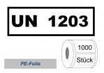 """UN-Nummernaufkleber """"UN 1203"""" PE-Folie"""