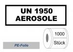 """UN-Nummernaufkleber """"UN 1950 AEROSOLE"""" PE-Folie"""