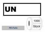 UN-Nummernaufkleber :  UN (ohne Zahlen)