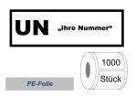 UN-Nummernaufkleber :  UN mit Aufdruck nach Wunsch