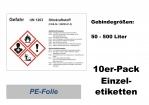 GHS-Kennzeichnung Ottokraftstoff 148x105 10er-Pack