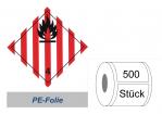 Gefahrzettel 100x100 PE-Folie - Gefahrgutklasse 4.1