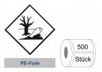 Kennzeichnung 100x100 PE-Folie - Umweltgefährdend