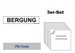 """Set Aufkleber """"BERGUNG"""" (3 Stück)"""
