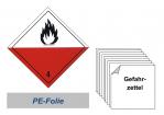 Gefahrzettel 100x100 PE-Folie - Gefahrgutklasse 4.2