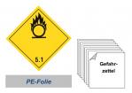 Gefahrzettel 100x100 PE-Folie - Gefahrgutklasse 5.1