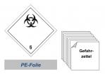 Gefahrzettel 100x100 PE-Folie - Gefahrgutklasse 6.2