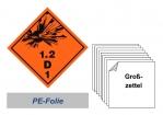Grosszettel 250x250 PE-Folie - Gefahrgutklasse 1.2 D