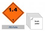 Grosszettel 250x250 PE-Folie - Gefahrgutklasse 1.4
