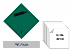 Grosszettel 300x300 PE-Folie - Gefahrgutklasse 2.2