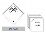 Grosszettel 250x250 PE-Folie - Gefahrgutklasse 2.3