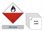 Grosszettel 300x300 PE-Folie - Gefahrgutklasse 4.2