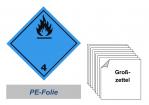 Grosszettel 300x300 PE-Folie - Gefahrgutklasse 4.3