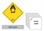 Grosszettel 300x300 PE-Folie - Gefahrgutklasse 5.1