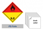 Grosszettel 300x300 PE-Folie - Gefahrgutklasse 5.2
