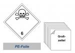 Grosszettel 250x250 PE-Folie - Gefahrgutklasse 6.1