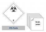 Grosszettel 300x300 PE-Folie - Gefahrgutklasse 6.2